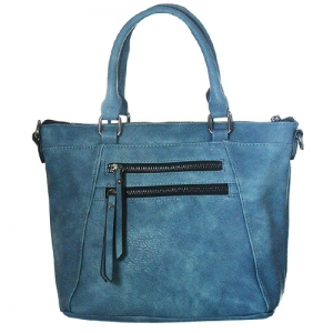 Faux Leather Totes Multi-Pocket Satchel BGW47461 39285 Blue