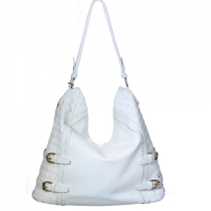 Woven  Leather Tote BGT-85032 39296 White