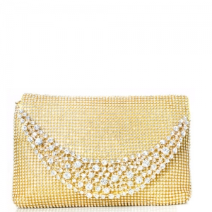 Rhinestone Clutch Purse 0003 39300 Gold
