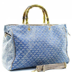 Denim Vegan handbag 61863 39334 Light Blue/ Stone