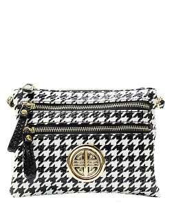 Houndstooth Patent Leather  Bag H001L 39380 Black