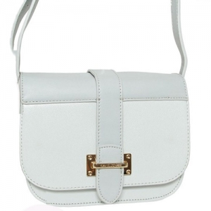 David Jones Faux Leather Crossbody Handbag 5523-1 39386 Light Grey
