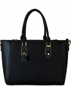 Faux Leather Shoulder  Handbag  Bgt-46407 39509 Black