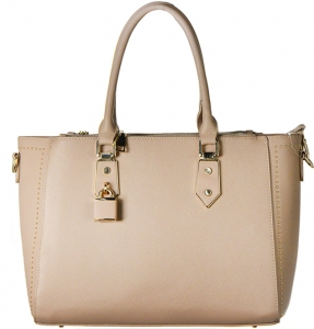 Faux Leather Shoulder  Handbag  Bgt-46407  39509 Nude