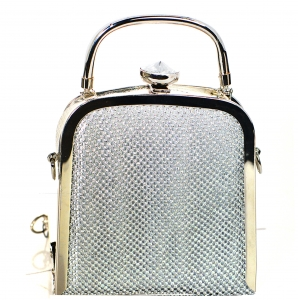 Rhinestone Clutch Purse Bv-104 39518 Silver