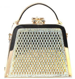 Rhinestone Clutch Purse Bv-105 39521 Gold