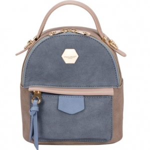 David Jones Faux Leather Backpack Cm3349 39595 Peacock Blue