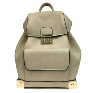 Faux Leather Backpack MY6011 39652 Beige
