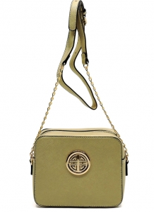 Messenger Handbag  Design Faux Leather Classic Style S039 39721 Gold