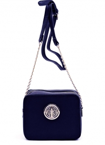 Messenger Handbag  Design Faux Leather Classic Style S039 39721 Navy