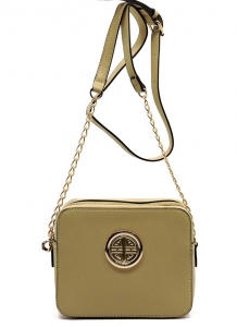 Messenger Handbag  Design Faux Leather Classic Style S039 39721 Stone