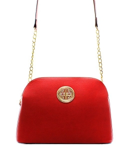 Messenger Handbag Design Faux Leather Classic Style WU40 39731 Red