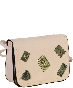 Designed Faux Leather MINI Clutch  CROSS BODY PURSE LS2012