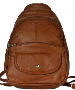 Genuine Leather Backpack 3308 LBN