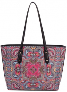 David Jones Tote handbag CM3319 39813 Fuchsia/Blue