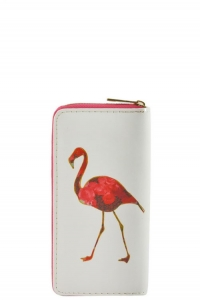 DESIGNER FLAMINGO BOHO  ILLUSTRATION SINGLE ZIP AROUND WA0002-7 39869