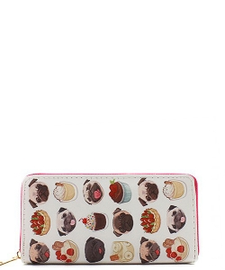 DESIGNER SWEETS ILLUSTRATION SINGLE ZIP AROUND WA0009-3 39881