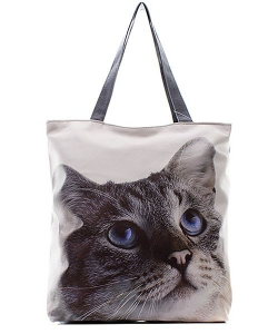 Blue Eye Cat Totes HandBag FC0020-4 39918