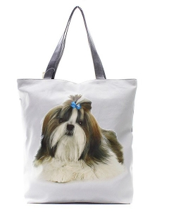 Doggy Blue Bow Totes HandBag FC0020-6 39920