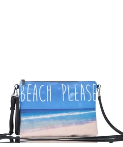 Large Clutch Design Beach Canvas Classic Style Bgs-15951 39939 Blue