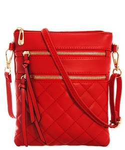 Quilted Crossbody Messenger Bag  CC6051N 39983 Red