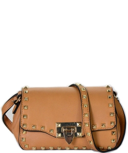 Messenger Handbag Design Faux Leather Classic Style LS2043