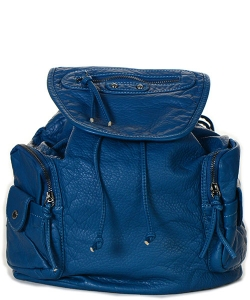 PU SIDE POCKET TOP TIE BACKPACK PS1156