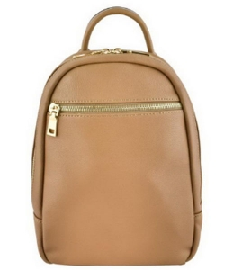 Zipper Pocket Accent Medium Fashion Backpack 87280