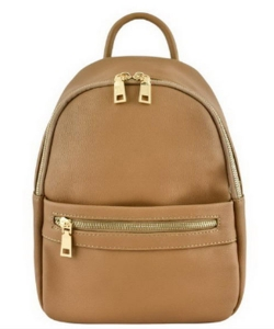 Zipper Pocket Accent Medium Fashion Backpack 87281