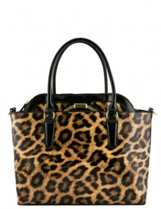 2 IN 1 PATENT LEOPARD TOTE BAG L1004