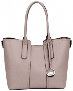 David Jones Leather Tote  Mini Reversible Handbag  50622 GREY