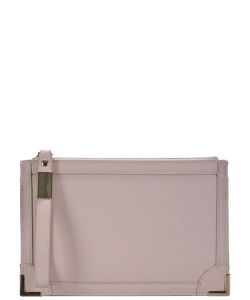Designed Faux Leather Clutch PR CLS47442 BLUSH