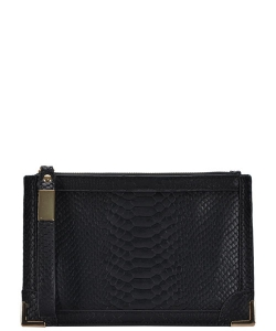 Designed Faux Leather Clutch PR CLS47442 SNAKE