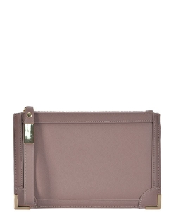 Designed Faux Leather Clutch PR CLS47442 TAUPE