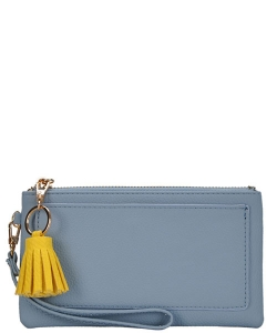 Designed Faux Leather Clutch PR WLW48476 BLUE