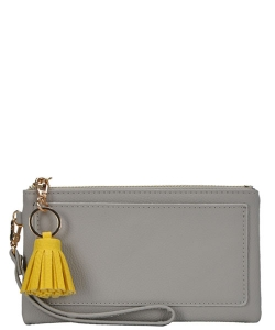 Designed Faux Leather Clutch PR WLW48476 GREY