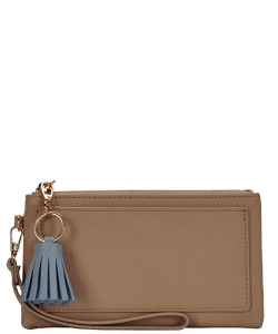 Designed Faux Leather Clutch PR WLW48476 TAUPE