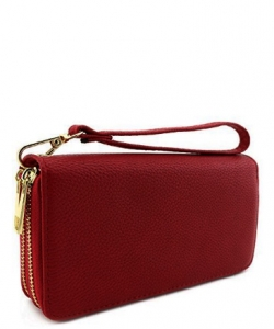 Double Zip Around Wristlet Wallet PR WU0012