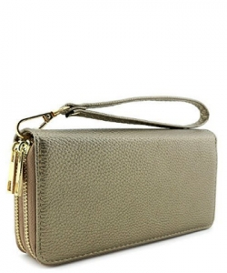 Double Zip Around Wristlet Wallet PR WU0012 OLIVE