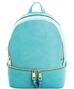 PR LP1062 2 in One Multi Compartment Bagpack Wallet Set Backpack TURQUOISE