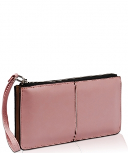 Solid Zipper Closure With Wrist Strap Wallet WA1422