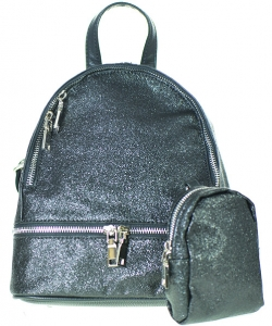 Glitter Design - Black leather-look straps  GB801BP