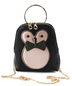 Cute Owl Pouch Purse,  Chain Strap Cross Body bag PR8530 OLIVE