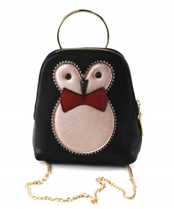 Cute Owl Pouch Purse,  Chain Strap Cross Body bag PR8530 RED