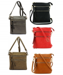 6 pcs combo Functional Multi Pocket Cross body Bag 80808A  Stone