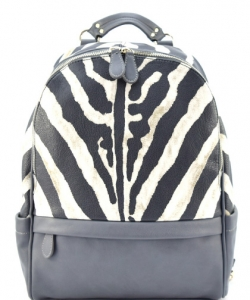 Zebra Skin Printed Vintage Fashion Backpack ZA001