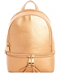 Fashion zipper Cute Backpack  LP1082 GOLD