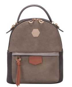 David Jones Faux Leather Mini Backpack CM3539