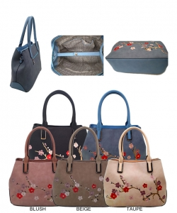 Elegant Fashion Flower Handbag Package Five Assorted Colors AA362
