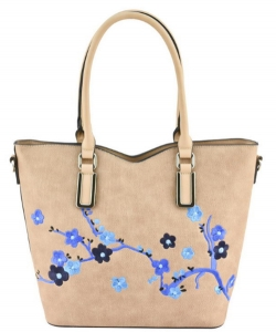 Designer Floral  Embroidered Tote Bag AA63